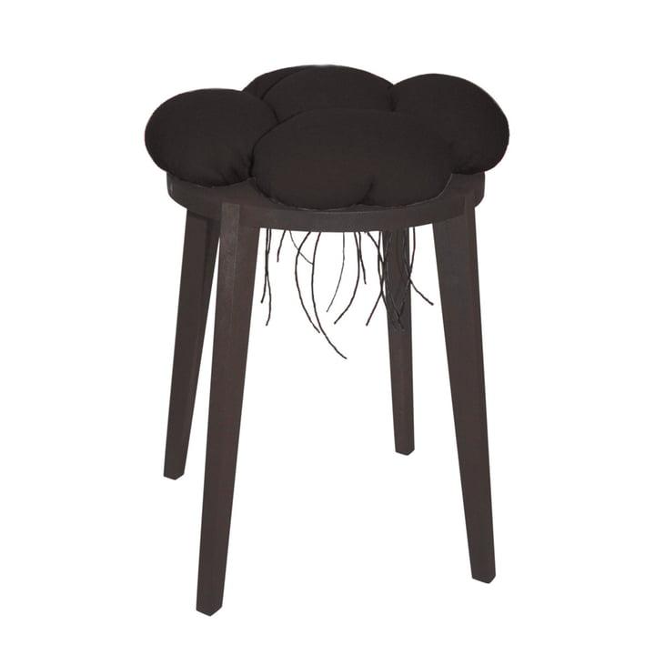 Black Forest stool, black (awarded) by Raumgestalt