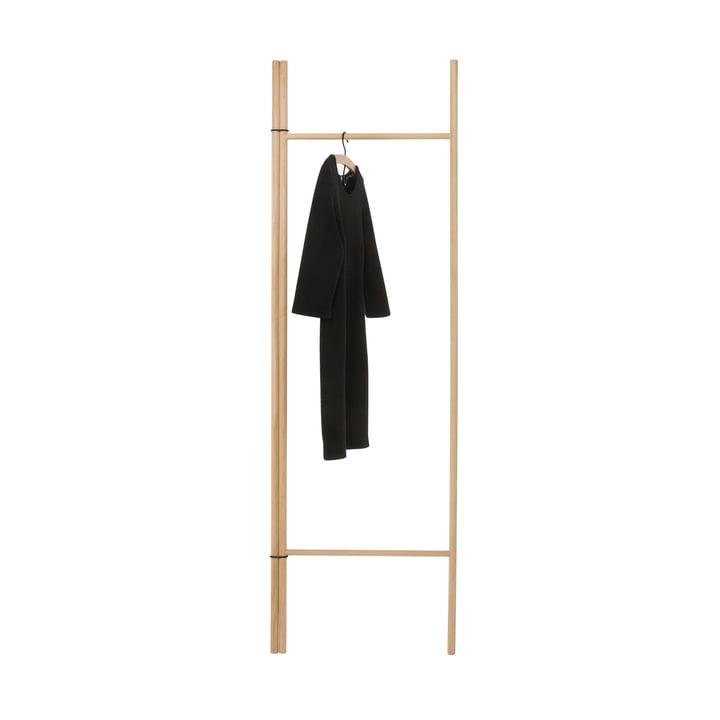 Storage ladder with 2 round bars, natural oak of room design