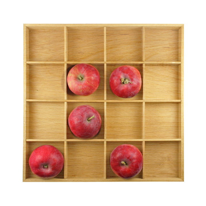 Apple box, 31 x 31 cm, natural oak, room design