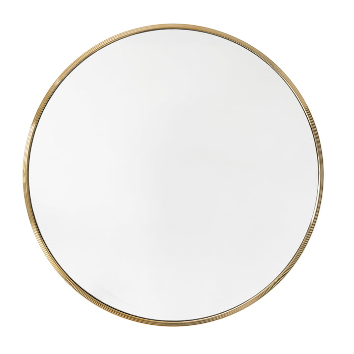 Sillon wall mirror SH6 Ø 96 cm from & tradition in brass