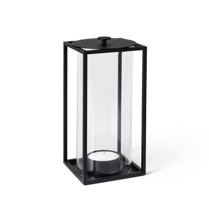 Light'In Lantern H 24 cm, black by Lassen