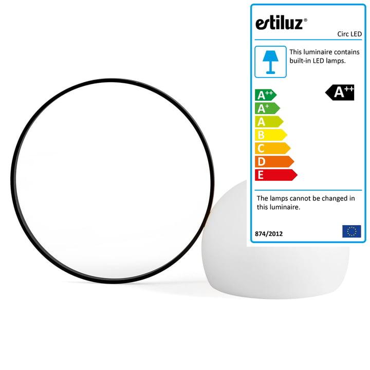 Circ LED Battery Table Light M-3727 from Estiluz in black