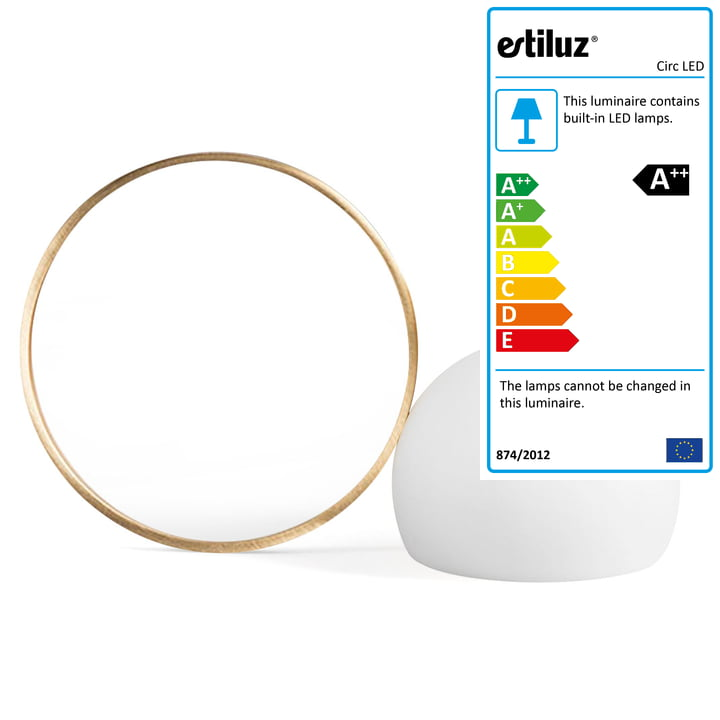 Circ LED Battery Table Light M-3727 by Estiluz in gold