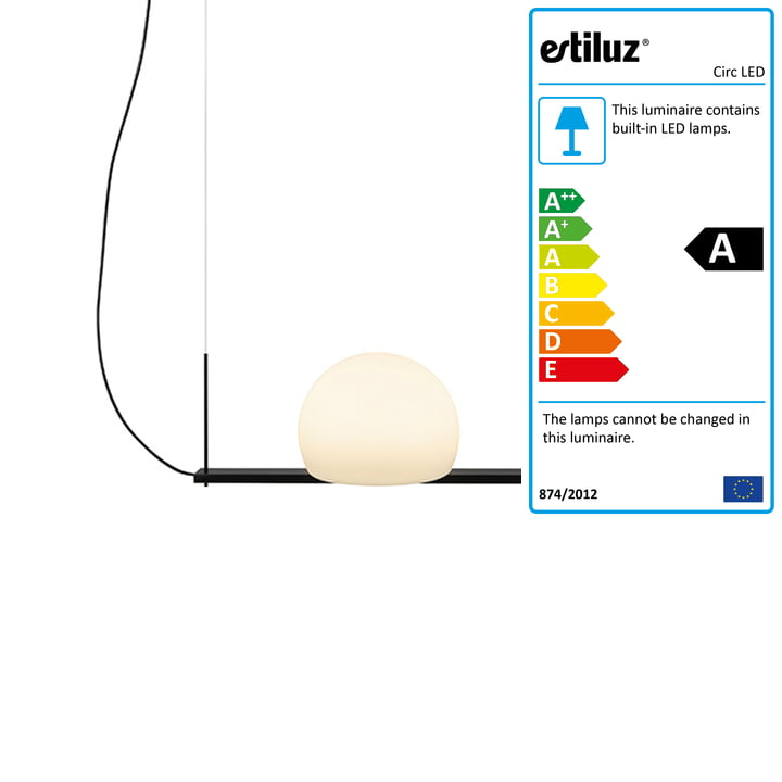 Circ LED pendant lamp 40 cm from Estiluz in black