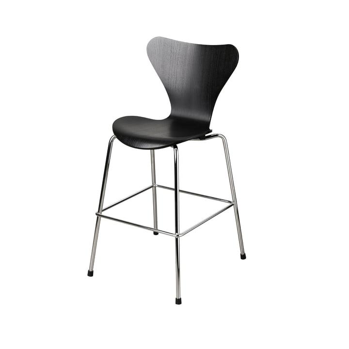 Series 7 Junior Chair by Fritz Hansen in Chrome / Black