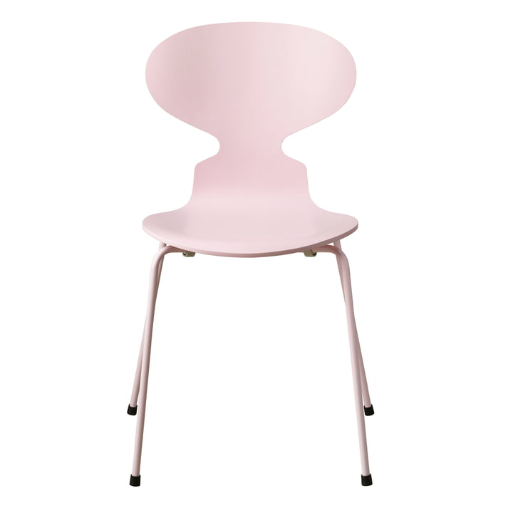 The Ant Chair Monochrome by Fritz Hansen in pale pink (4 legs)
