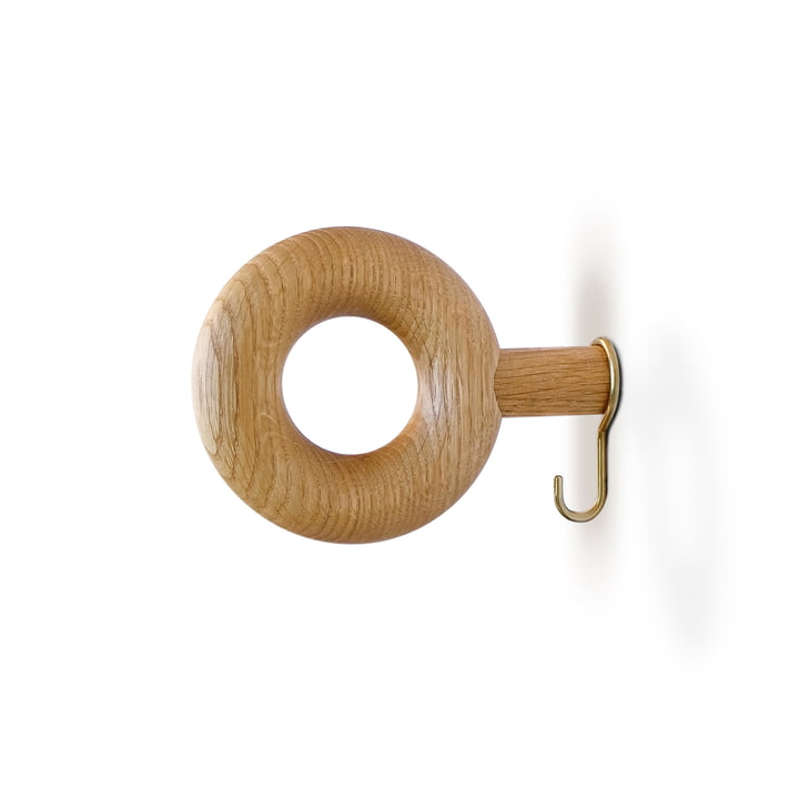 Wall hook ONO 9 cm from vonbox in oak