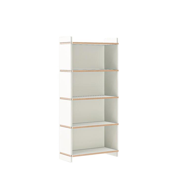 multiple shelf fourfold basic module of Tojo in white