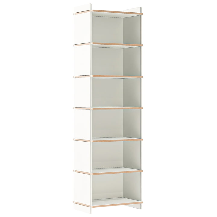 multiple shelf sixfold basic module of Tojo in white