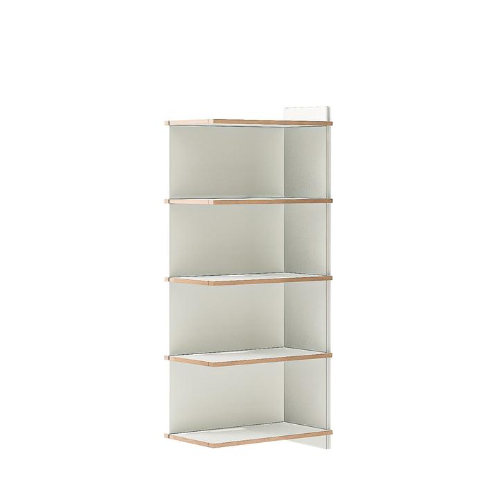 multiple shelf fourfold add-on module from Tojo in white