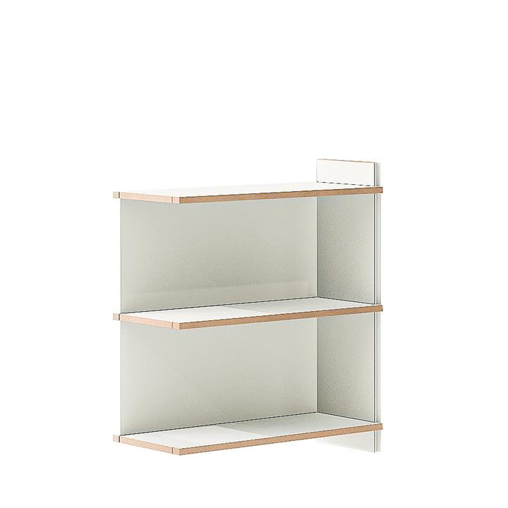 multiple shelf double add-on module from Tojo in white