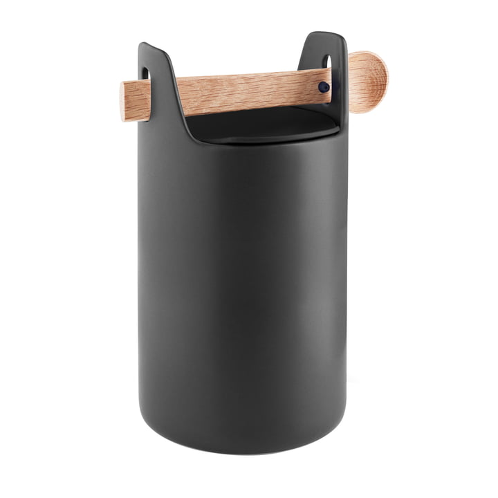 Toolbox with spoon and lid H 20 cm from Eva Solo in black