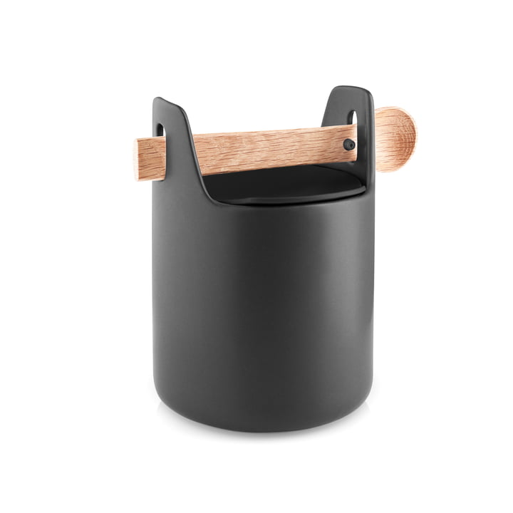 Toolbox with spoon and lid H 15 cm from Eva Solo in black