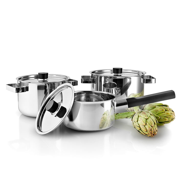 Nordic Kitchen cookware set by Eva Solo in stainless steel