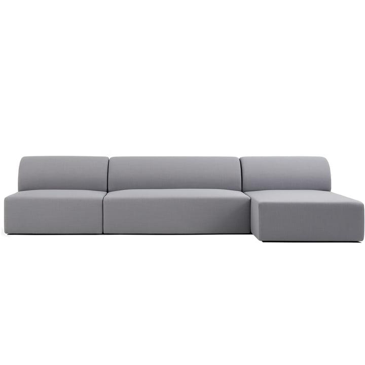 Weber Modulsofa Design 02 of contemporary objects in grey (Atlas 131)