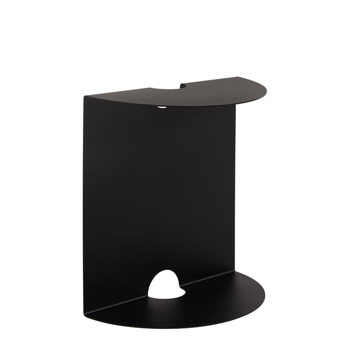 Weber side table of objects of our days in black
