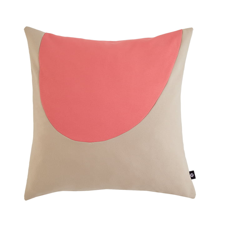 Waseki pillow XLarge 80 x 80 cm of objects of our days in pink / beige