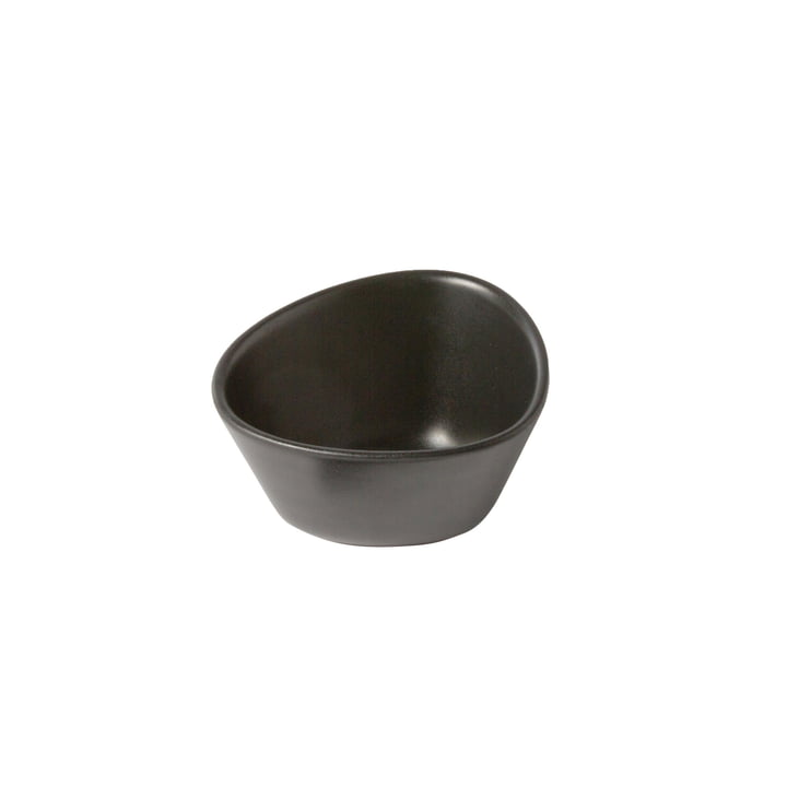 Curve Stoneware Bowl S, 0.2 l of LindDNA in black