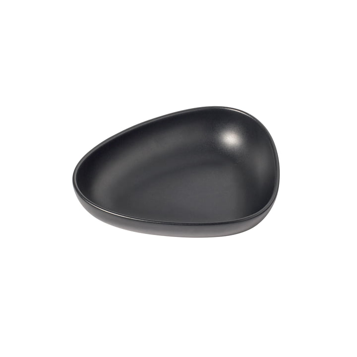 Curve Stoneware deep plate 22 x 19 cm from LindDNA in black
