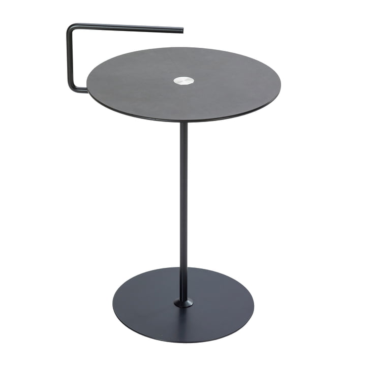 Pick-Up side table M Ø 38 x H 50/62 cm from LindDNA in nupo anthracite / light grey