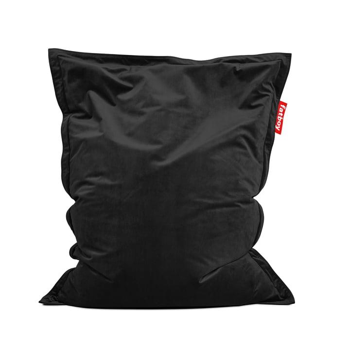 Beanbag Original Slim Velvet by Fatboy in black (special edition for Black Friday)