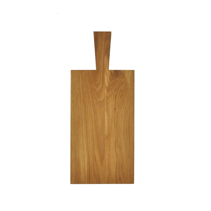 Cutting board with handle of room design in oak light oiled (29,5 x 16,5 x 1,8 cm + handle 10 cm)