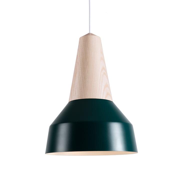 Eikon Basic pendant luminaire, ash / forest green by Schneid
