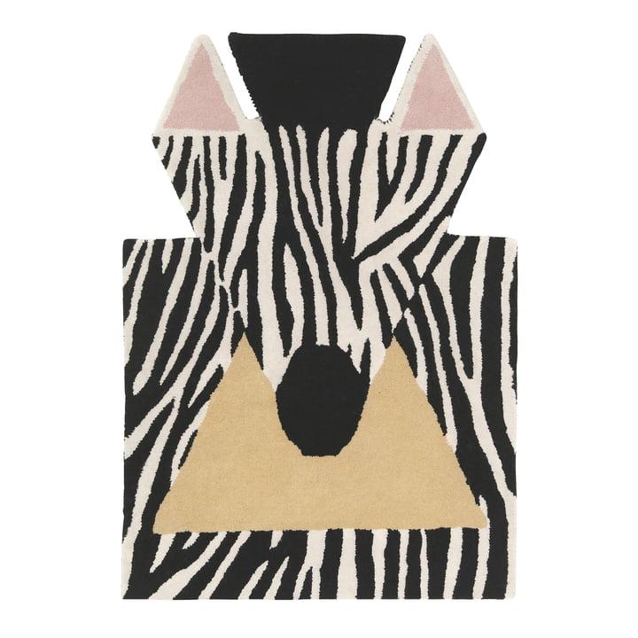 Zebra 100 x 70 cm carpet from EO Denmark in black / white / beige