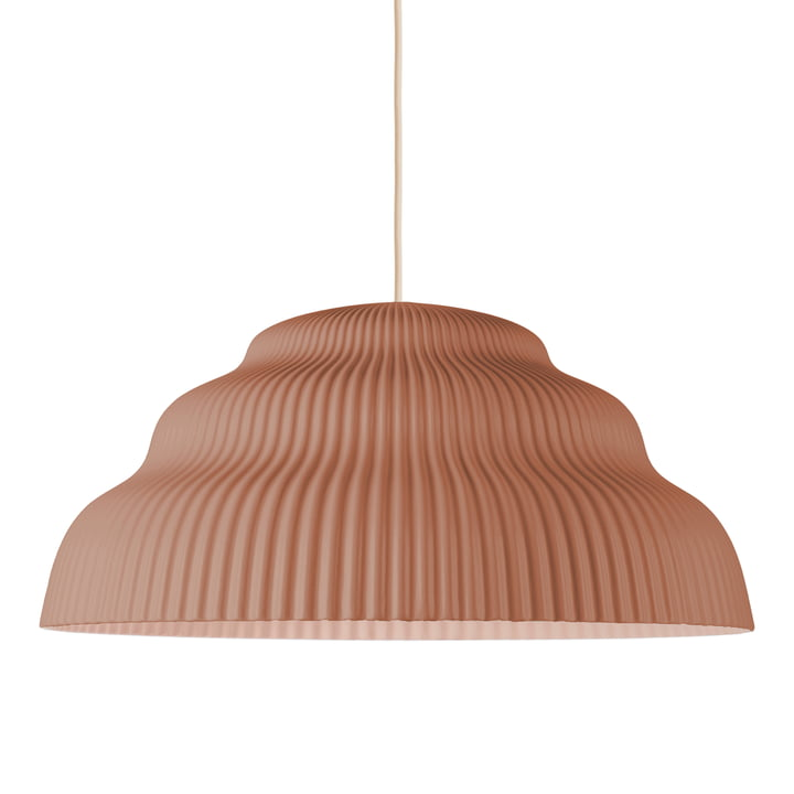 Cascade pendant luminaire, large, rust from Schneid