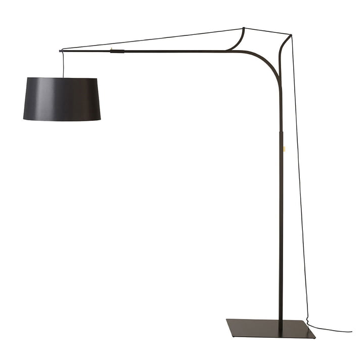 Tina floor lamp by frauMaier in black (RAL 9005)