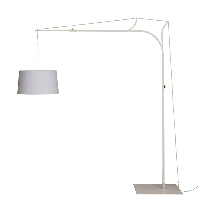 Tina floor lamp by frauMaier in white (RAL 9016)
