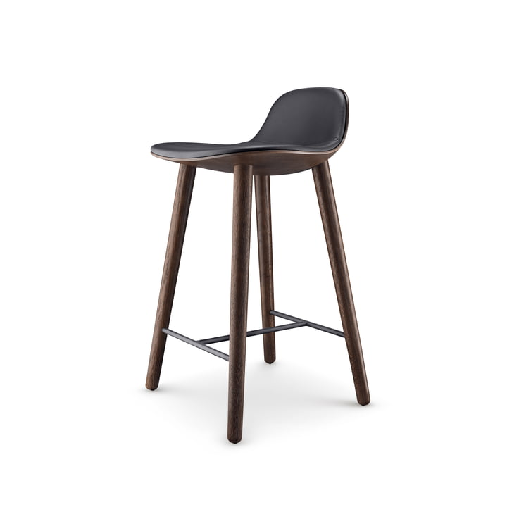 Abalone bar stool H 65 cm from Eva Solo in oak smoked / black