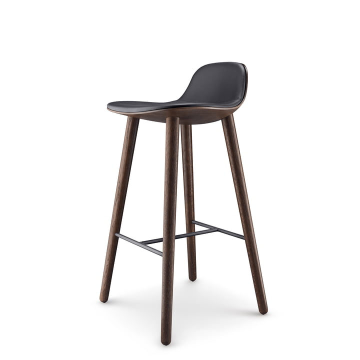 Abalone bar stool H 75 cm from Eva Solo in oak smoked / black