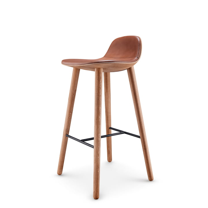 Abalone bar stool H 75 cm from Eva Solo in oak nature / cognac