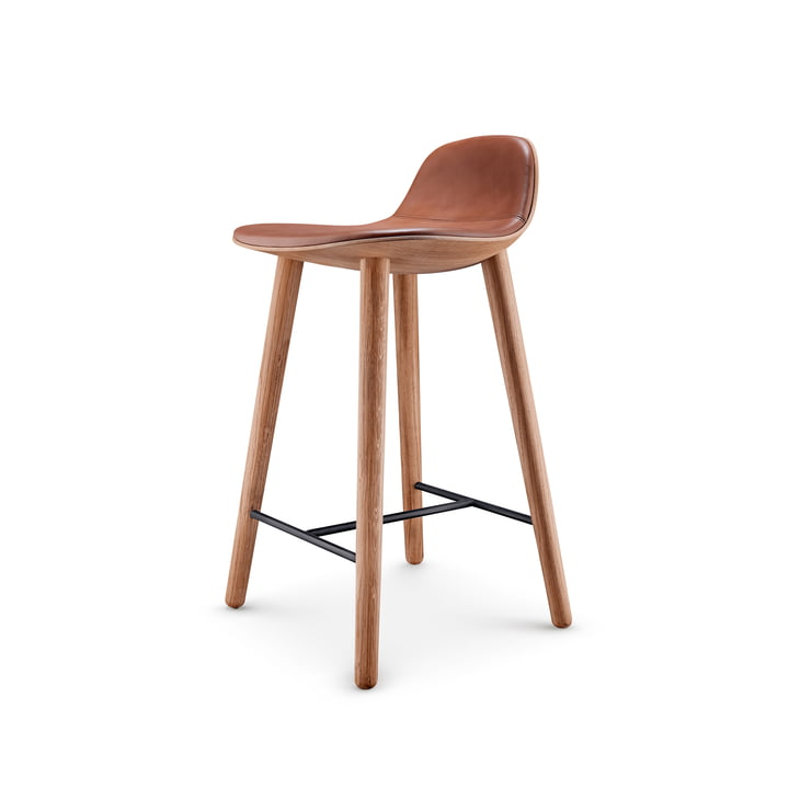 Abalone bar stool H 65 cm from Eva Solo in oak nature / cognac