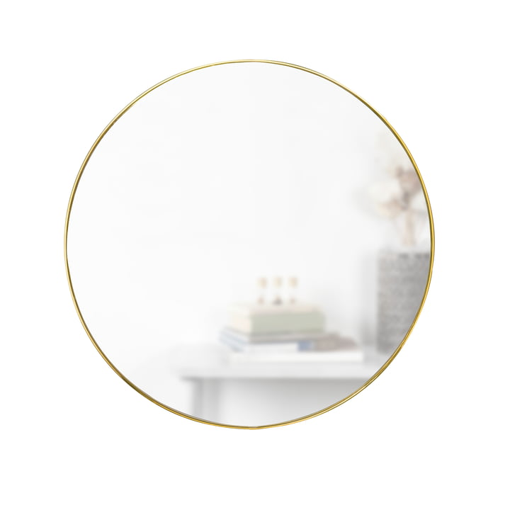 Hubba mirror Ø 86 cm from Umbra in brass