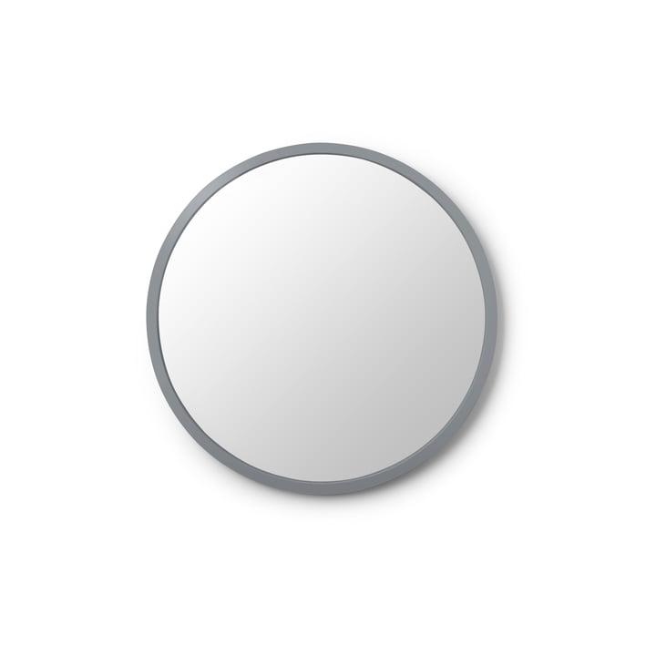 Stroke mirror Ø 45 cm from umbra in grey