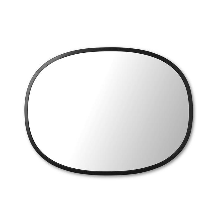 Hub mirror oval 45 x 60 cm of Umbra in black