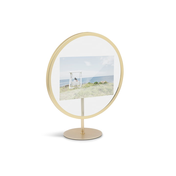 Infinity picture frame 10 x 15 cm from Umbra in matt brass