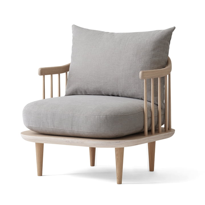 Fly armchair SC10 from & tradition in oak white oiled / Hot Madison (94)