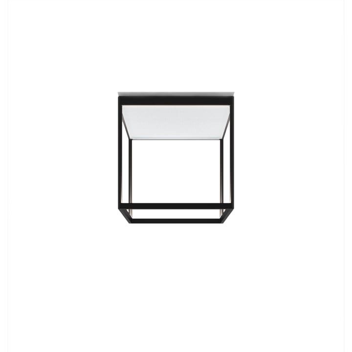 Reflex² 300 M LED ceiling light, 2700 K / 4520 lm, black / textured glass white by serien.lighting