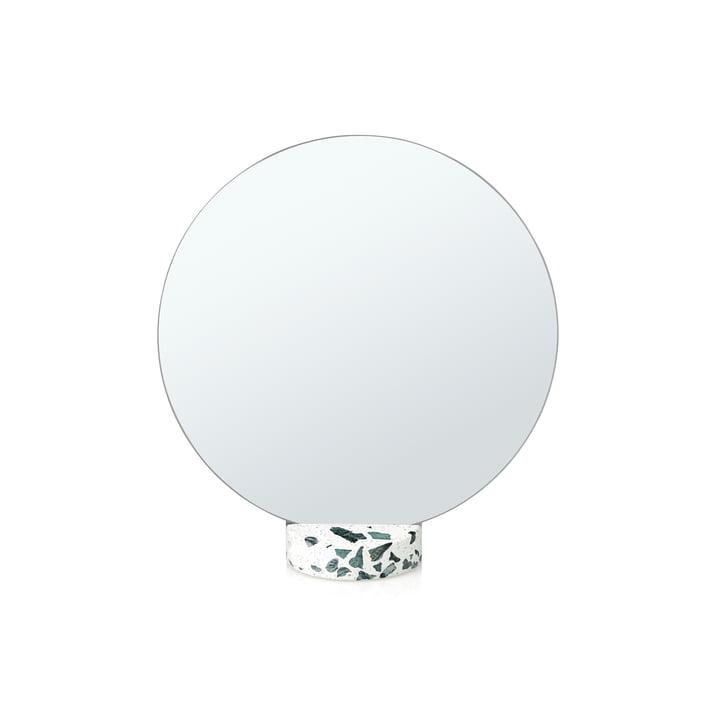 Erat table mirror Ø 25 cm by Lucie Kaas in Terazzo white