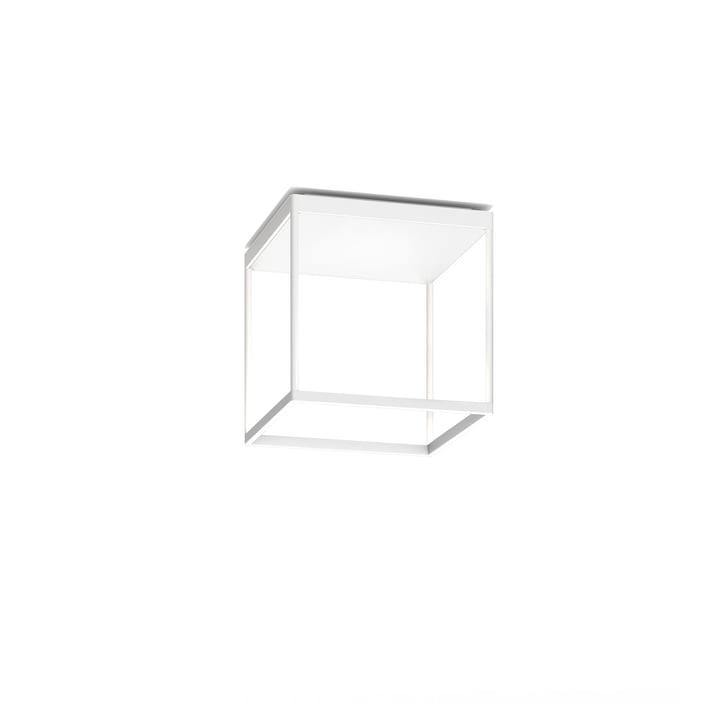 Reflex² 300 M LED ceiling light, 2700 K / 4520 lm, white / textured glass white by serien.lighting