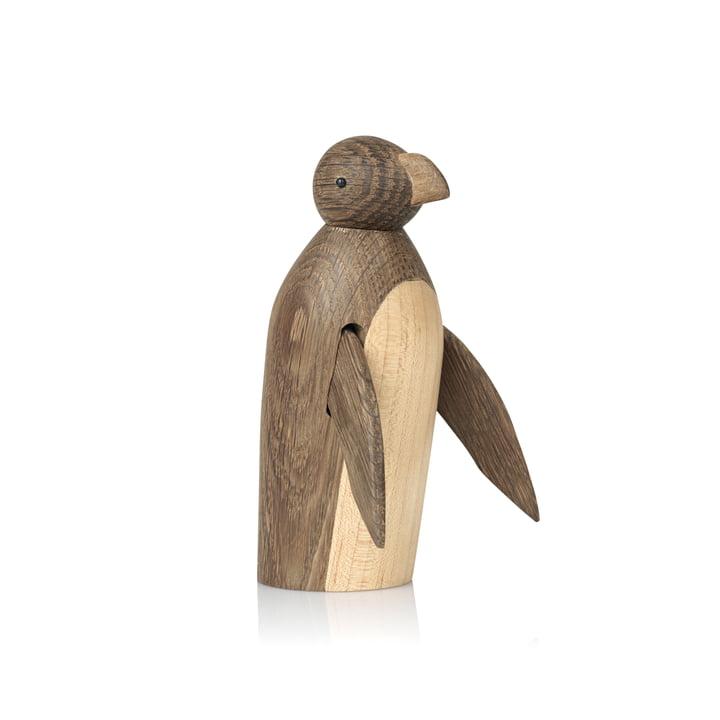 Skjøde Penguin wooden figure from smoked Lucie Kaas in oak / maple