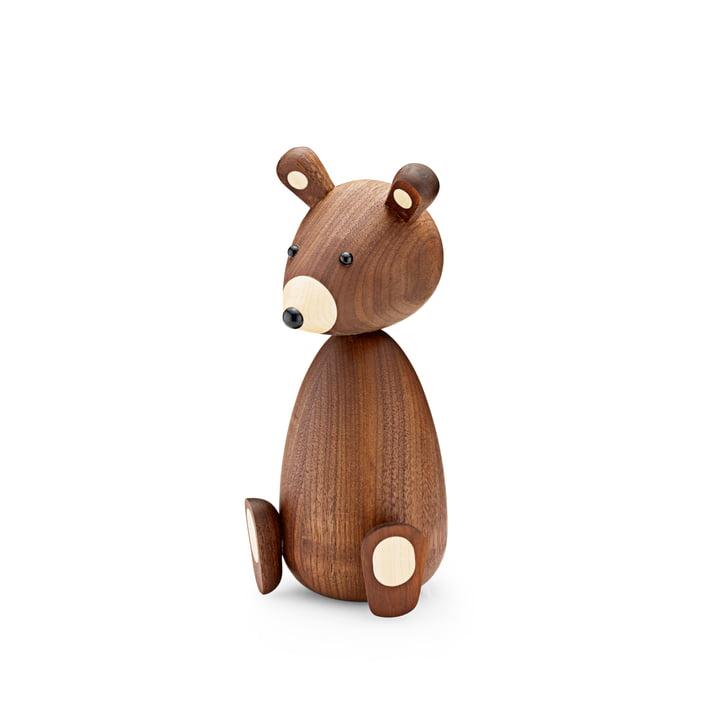 Mama bear wooden figure H 19,5 cm by Lucie Kaas in walnut