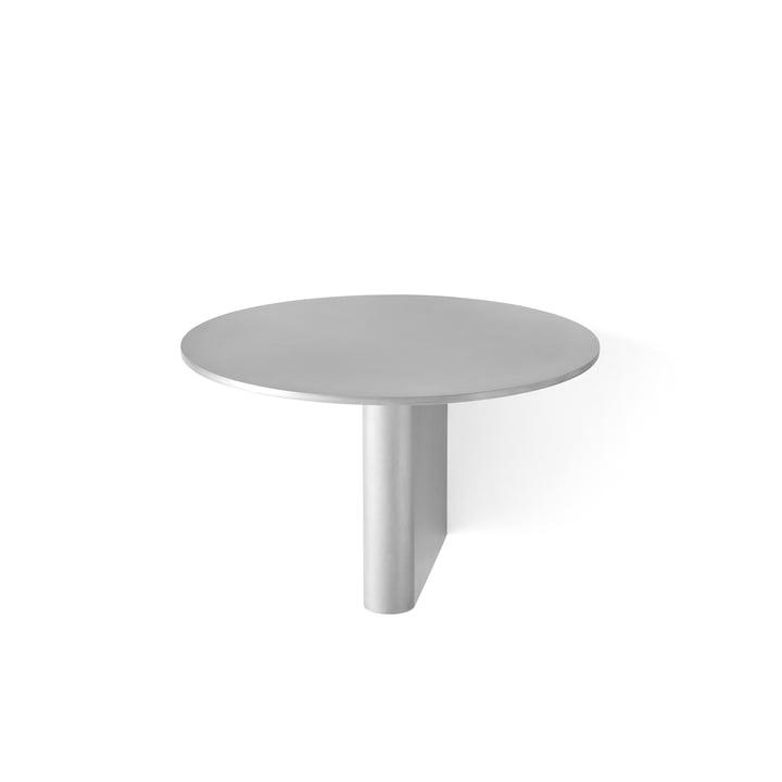 Column shelf JA1 Ø 25 cm from & tradition in aluminium