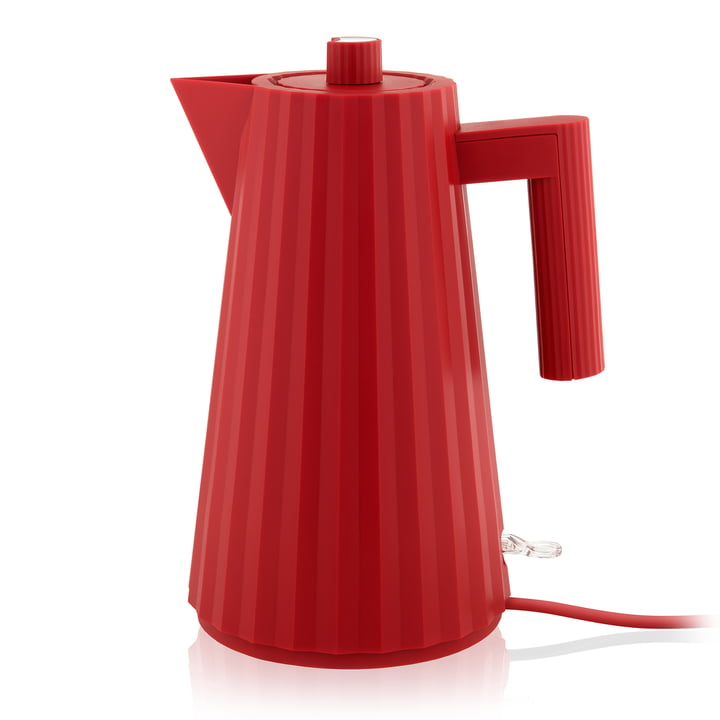 Plissé kettle 1,7 l from Alessi in red