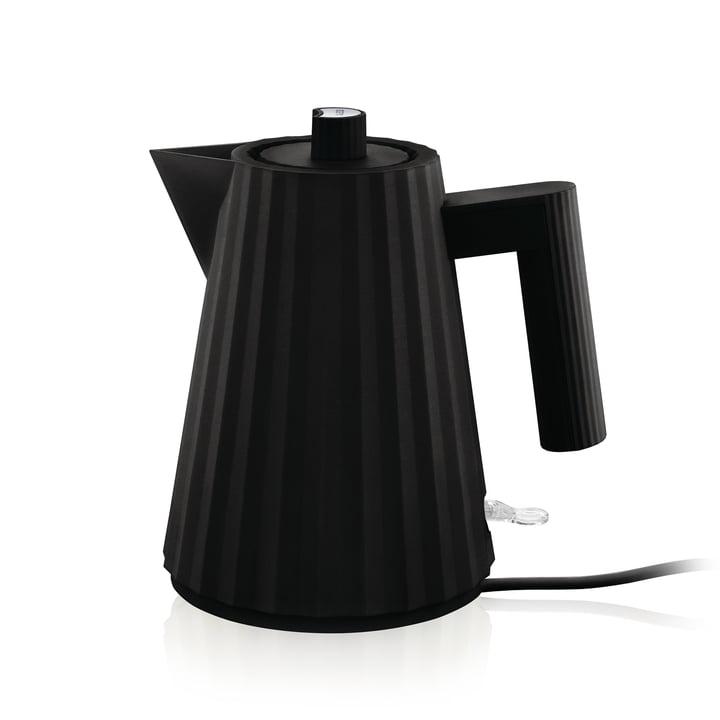 Plissé kettle 1 l of Alessi in black