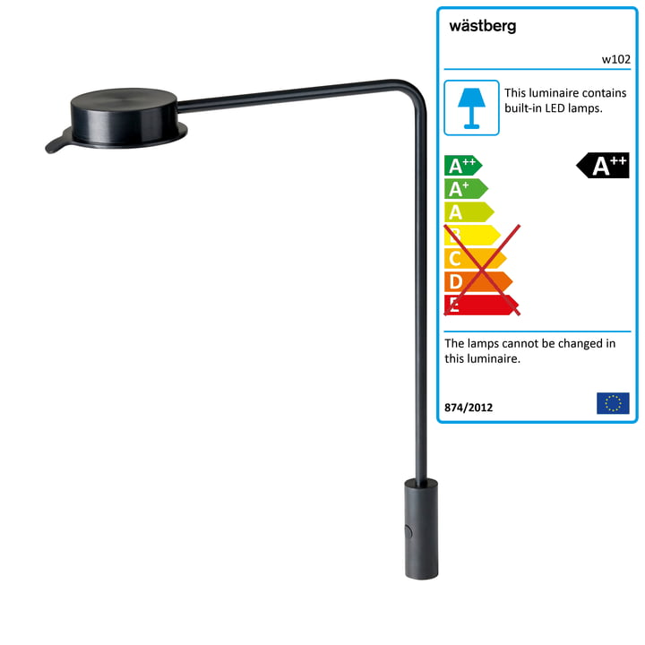 w102 Chipperfield LED Table Lamp p from Wästberg in black