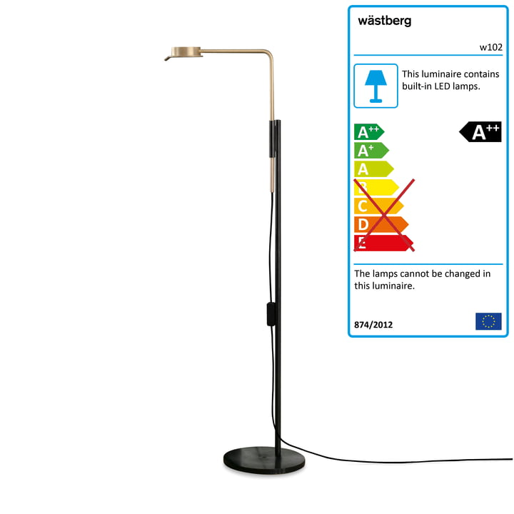 w102 Chipperfield LED floor lamp f from Wästberg in black / gold